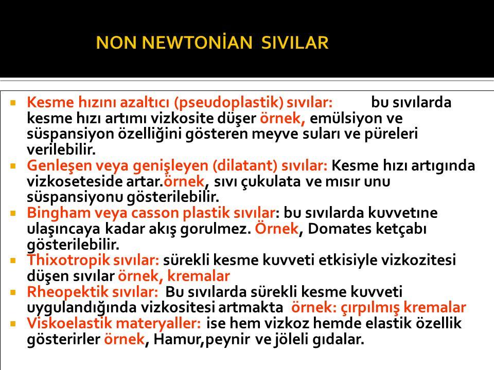NON NEWTONİAN SIVILAR