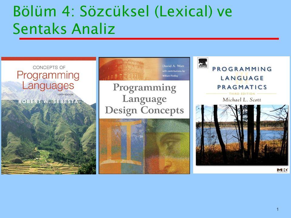 Bölüm 4: Sözcüksel (Lexical) ve Sentaks Analiz