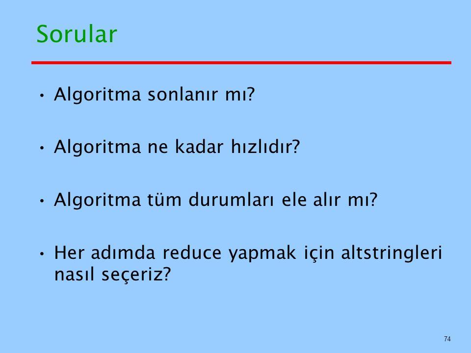 Sorular Algoritma sonlanır mı Algoritma ne kadar hızlıdır