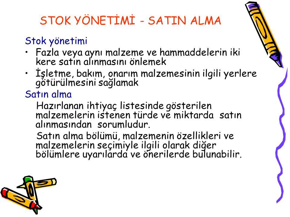 STOK YÖNETİMİ - SATIN ALMA