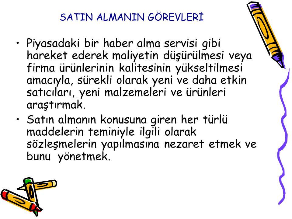 SATIN ALMANIN GÖREVLERİ