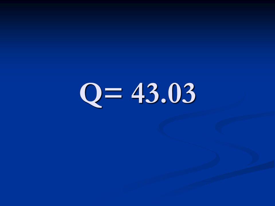 Q= 43.03