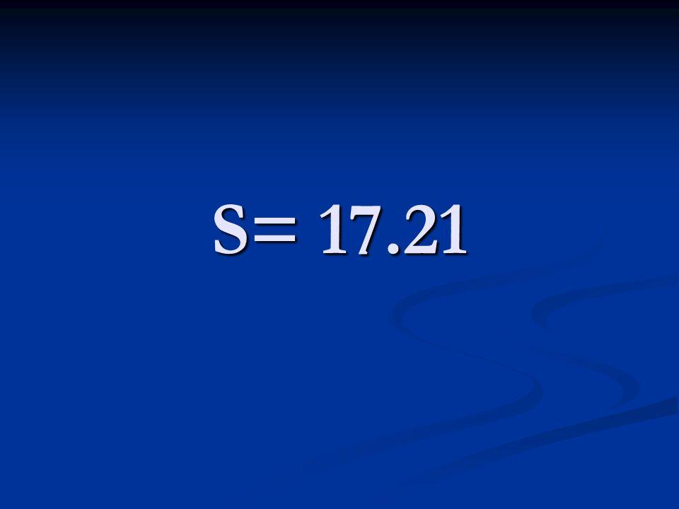 S= 17.21