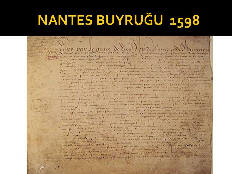 NANTES BUYRUĞU 1598