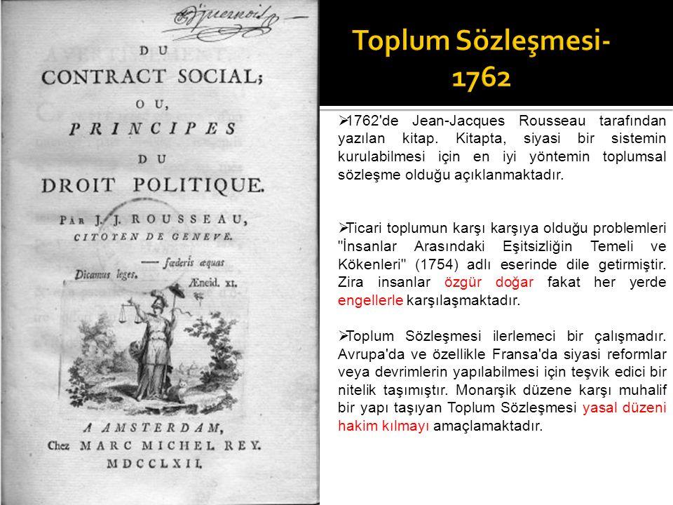 Toplum Sözleşmesi-1762