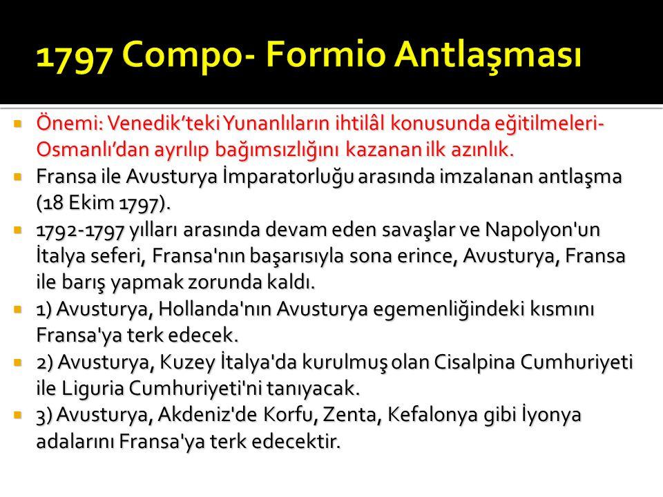 1797 Compo- Formio Antlaşması
