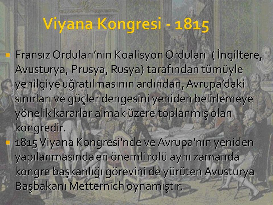Viyana Kongresi - 1815