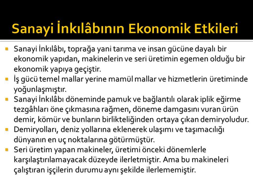 Sanayi İnkılâbının Ekonomik Etkileri