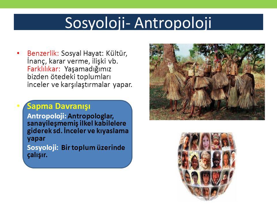 Sosyoloji- Antropoloji
