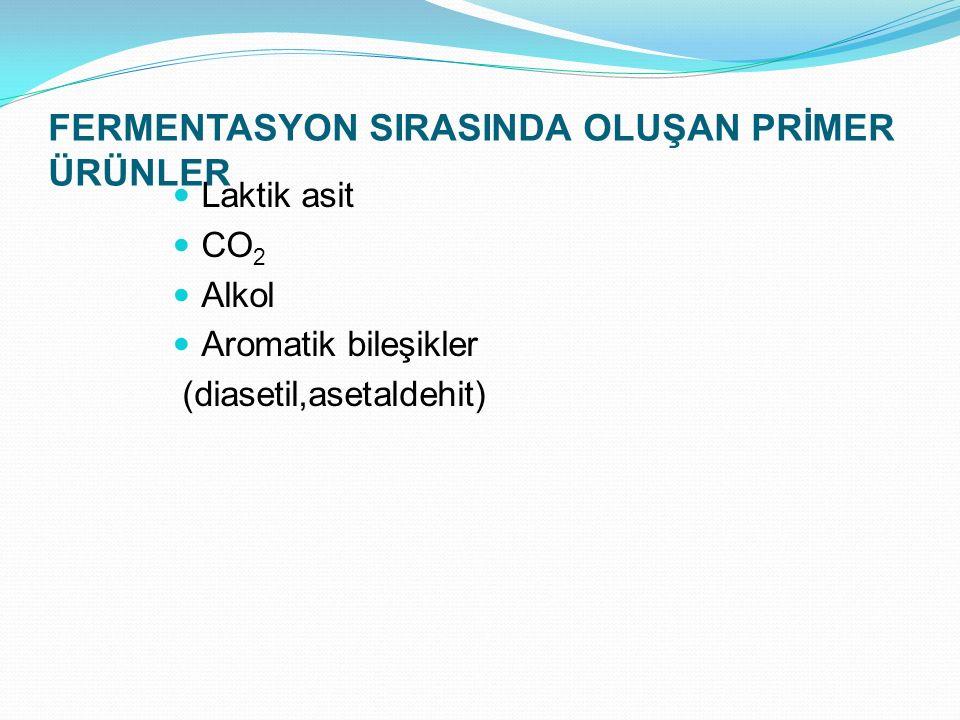 FERMENTASYON SIRASINDA OLUŞAN PRİMER ÜRÜNLER