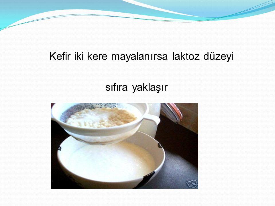 Kefir iki kere mayalanırsa laktoz düzeyi