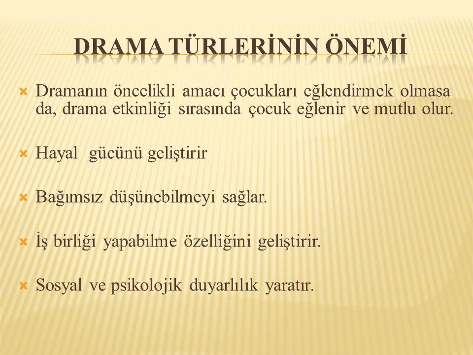 Drama türlerİnİn önemİ