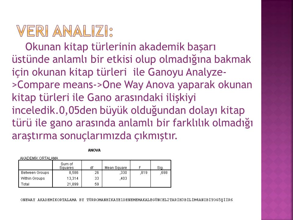 Veri analizi: