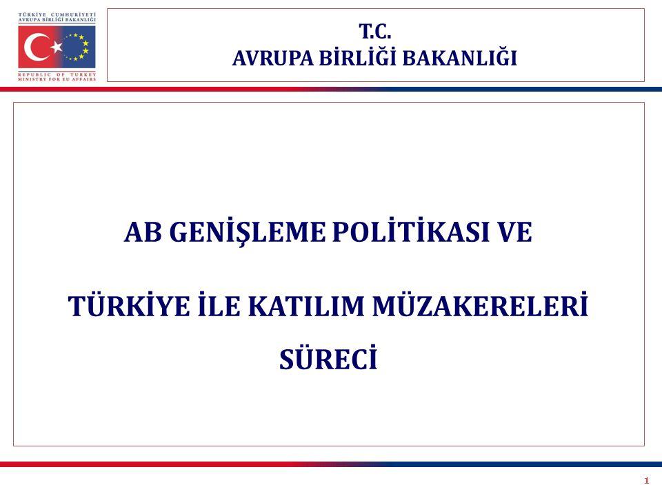 AB GENİŞLEME POLİTİKASI VE TÜRKİYE İLE KATILIM MÜZAKERELERİ SÜRECİ