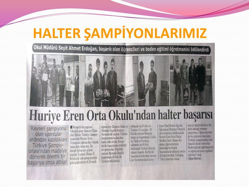 HALTER ŞAMPİYONLARIMIZ