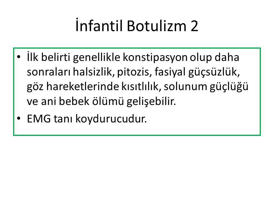 İnfantil Botulizm 2