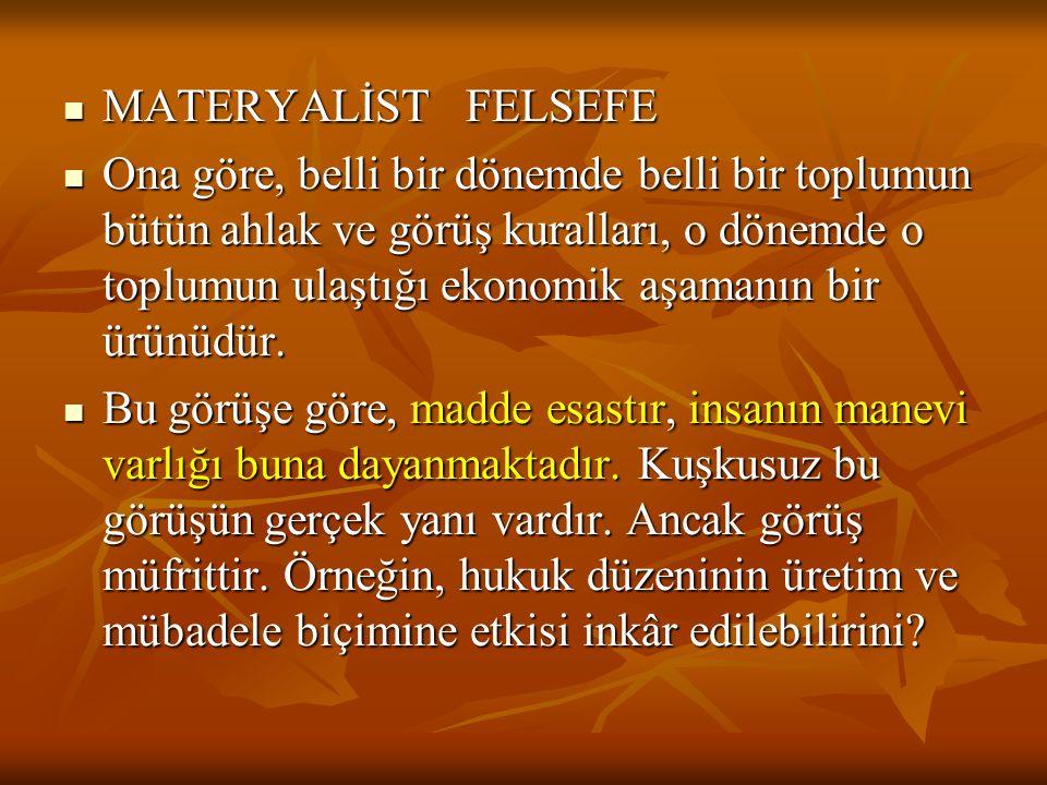 MATERYALİST FELSEFE