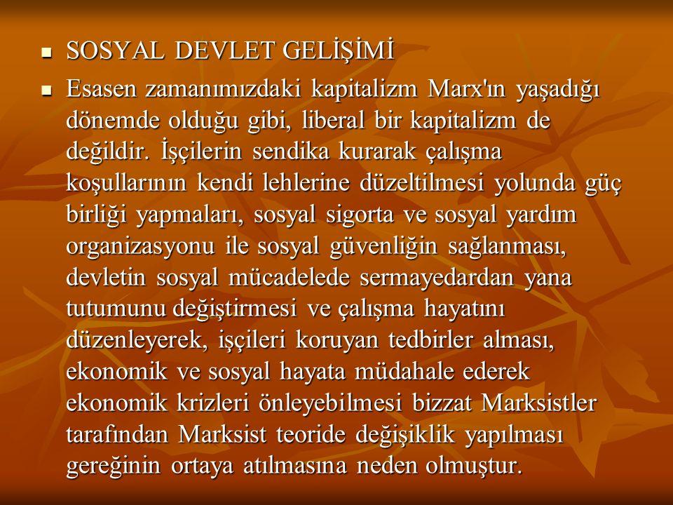SOSYAL DEVLET GELİŞİMİ