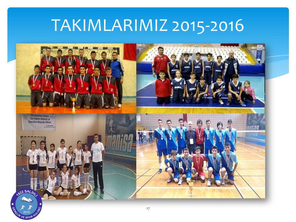 TAKIMLARIMIZ 2015-2016