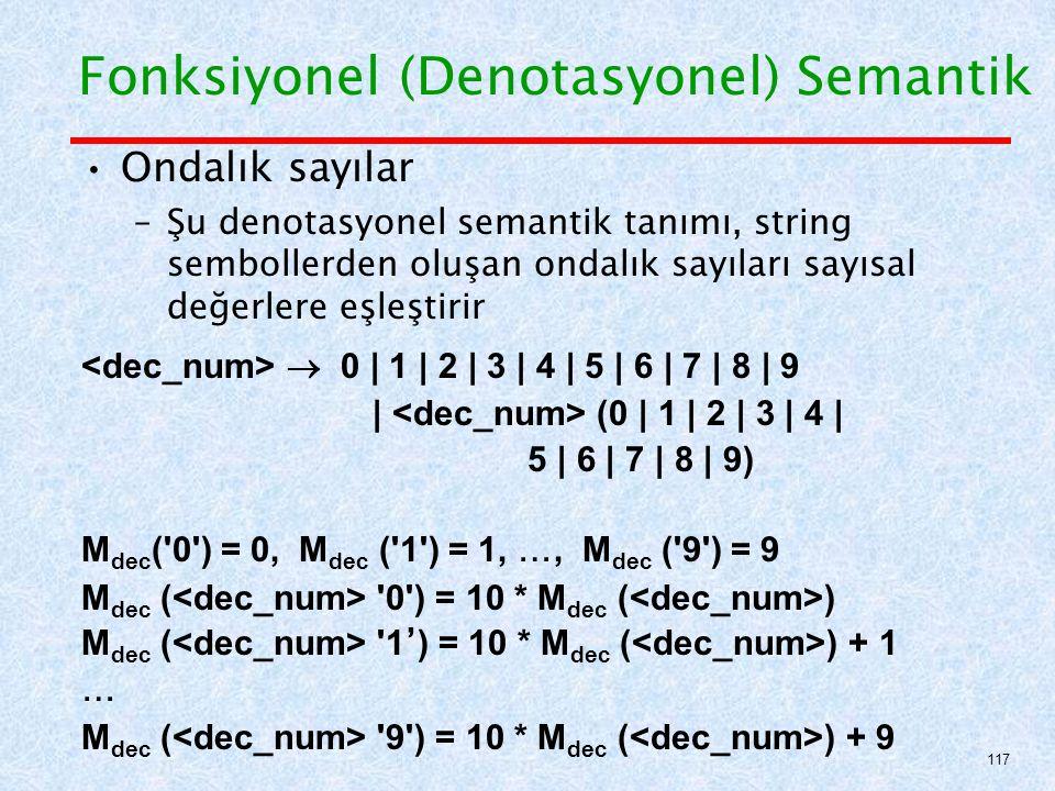 Fonksiyonel (Denotasyonel) Semantik