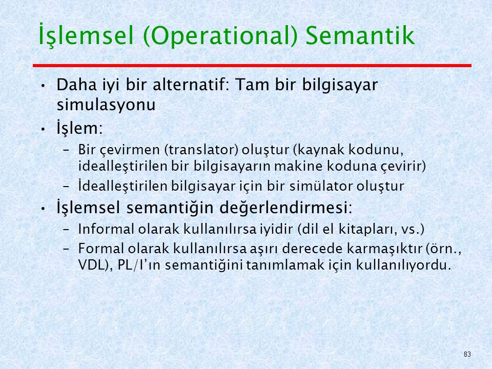 İşlemsel (Operational) Semantik