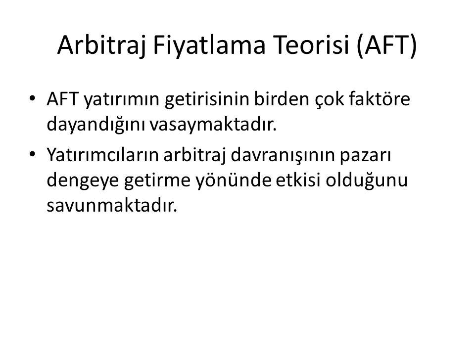 Arbitraj Fiyatlama Teorisi (AFT)