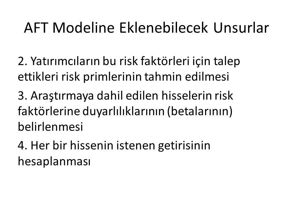 AFT Modeline Eklenebilecek Unsurlar