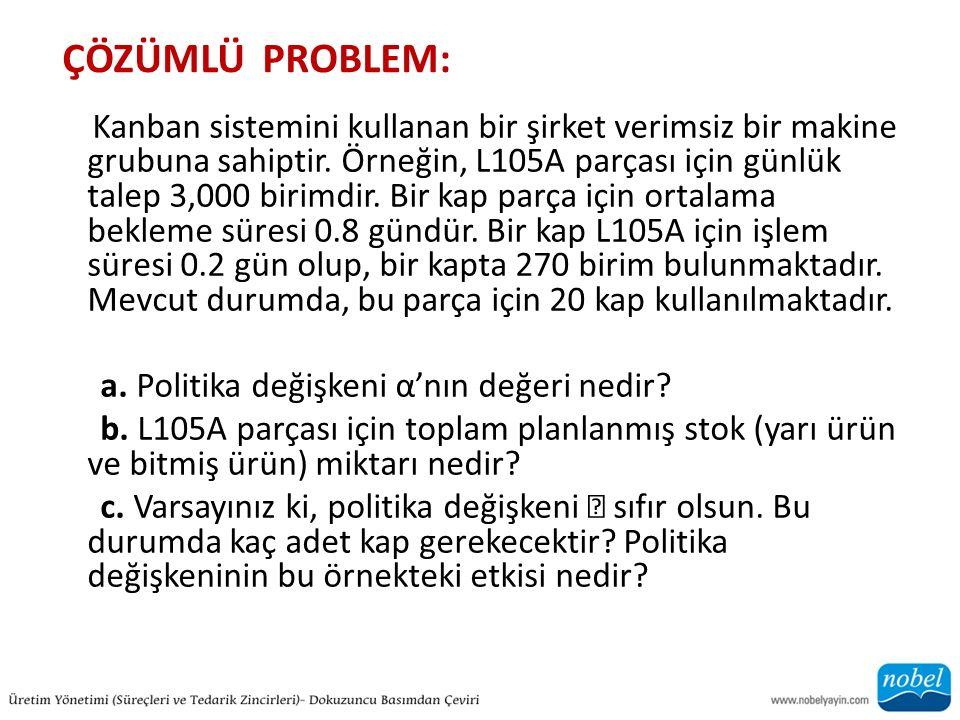 ÇÖZÜMLÜ PROBLEM: