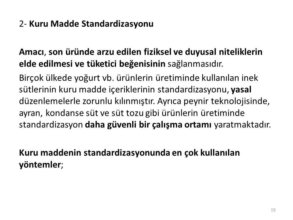 2- Kuru Madde Standardizasyonu