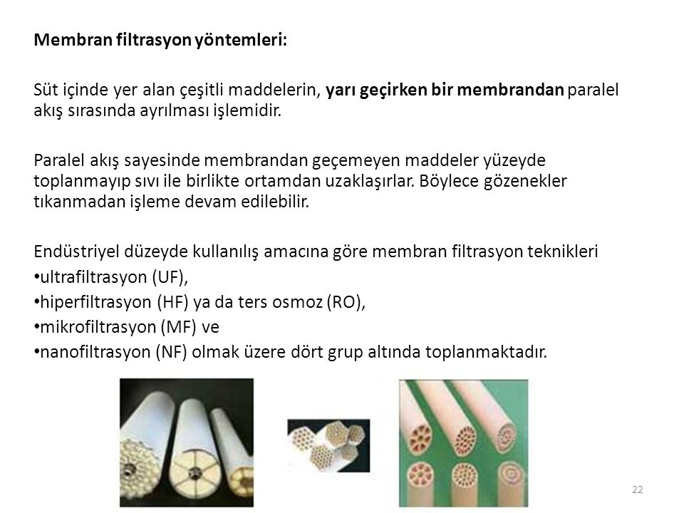 Membran filtrasyon yöntemleri: