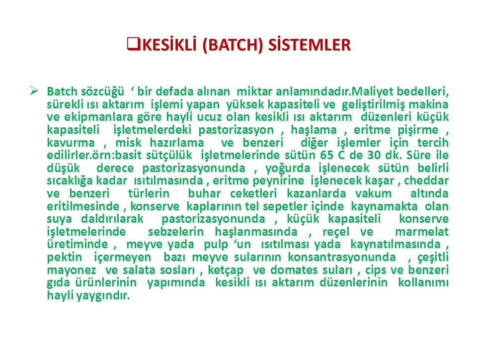 KESİKLİ (BATCH) SİSTEMLER