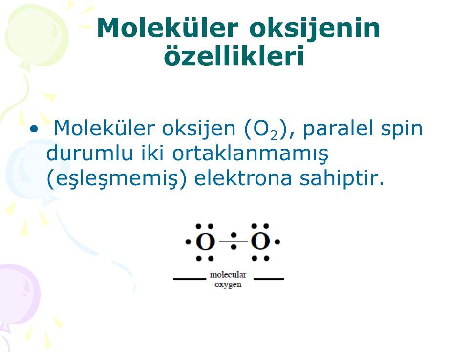 Moleküler oksijenin özellikleri