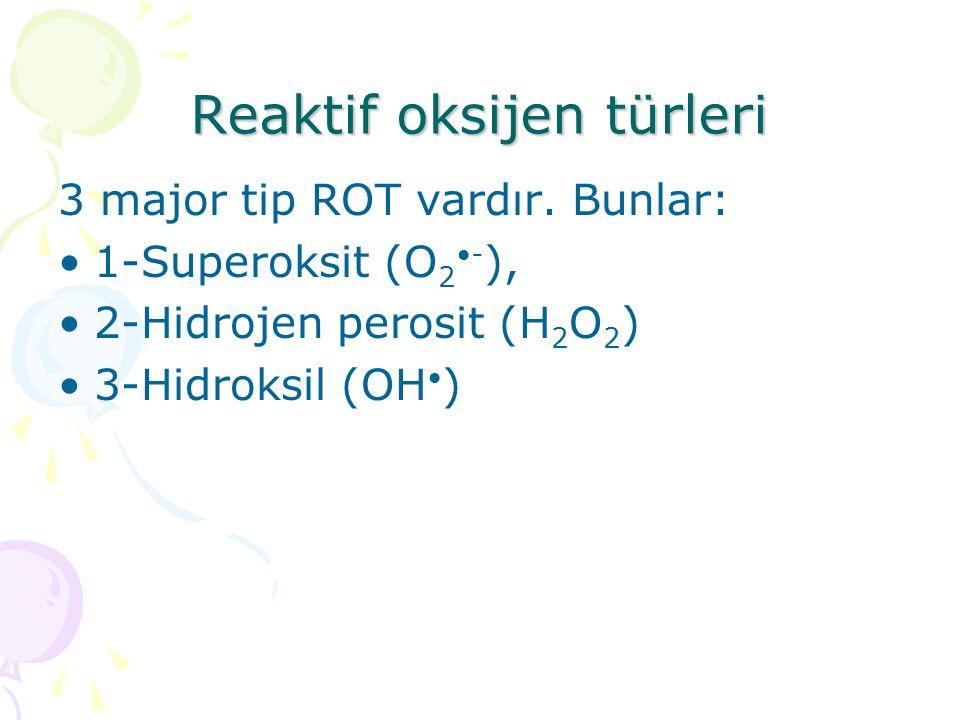 Reaktif oksijen türleri