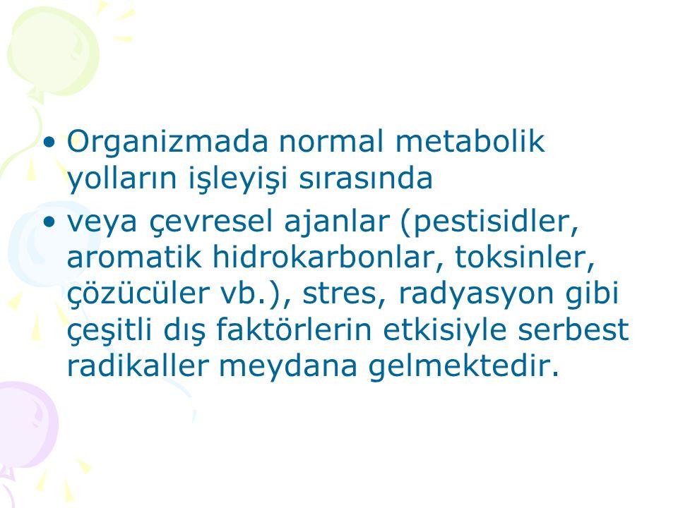 Organizmada normal metabolik yolların işleyişi sırasında