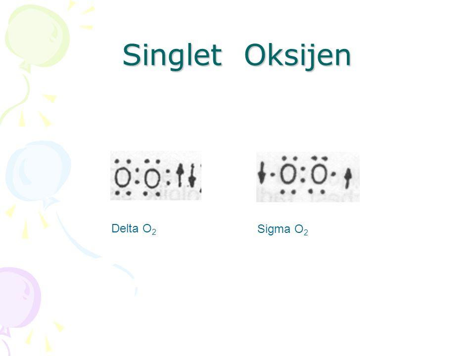 Singlet Oksijen Delta O2 Sigma O2