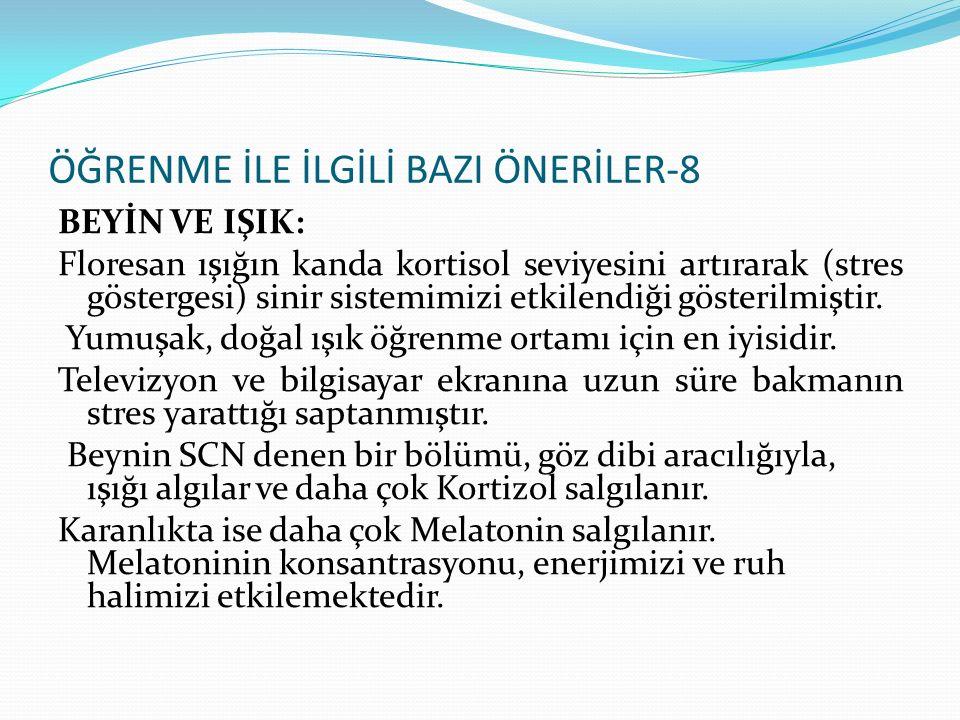 ÖĞRENME İLE İLGİLİ BAZI ÖNERİLER-8