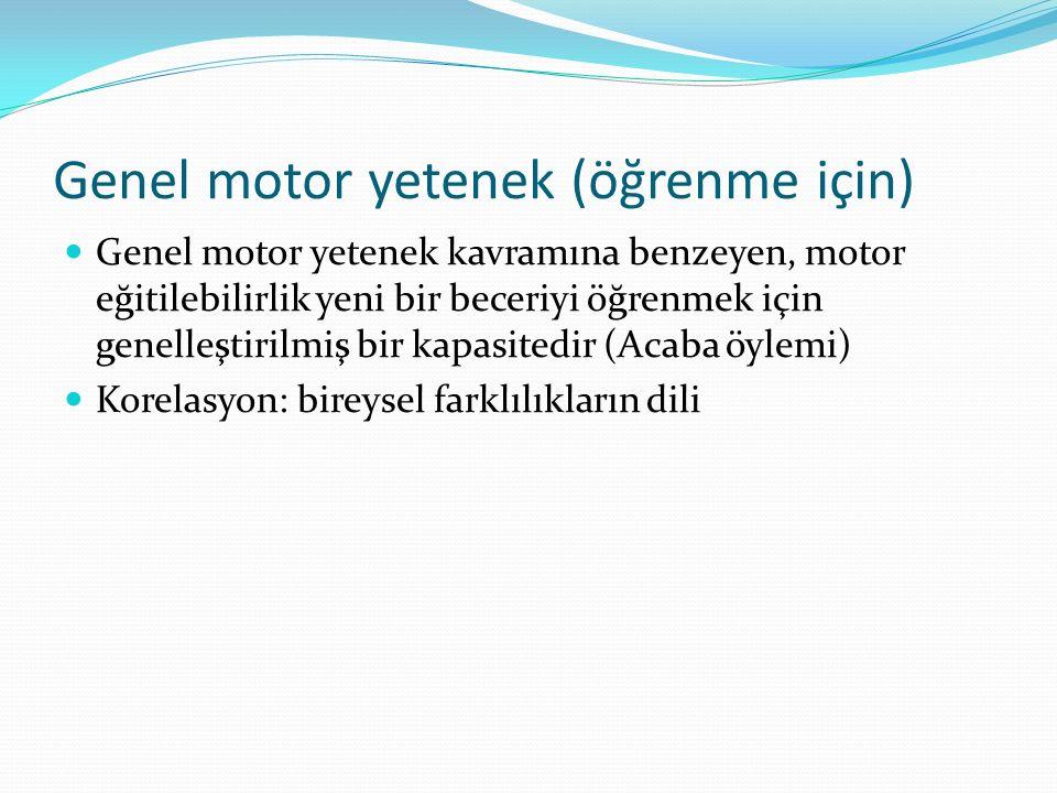 Genel motor yetenek (öğrenme için)