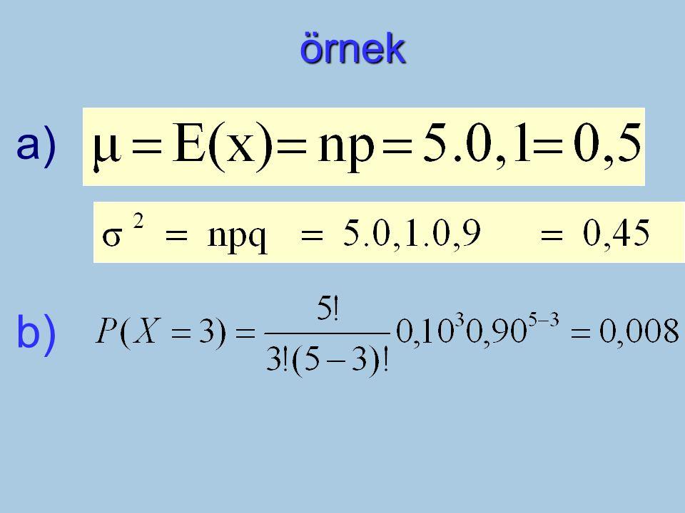 örnek a) b)