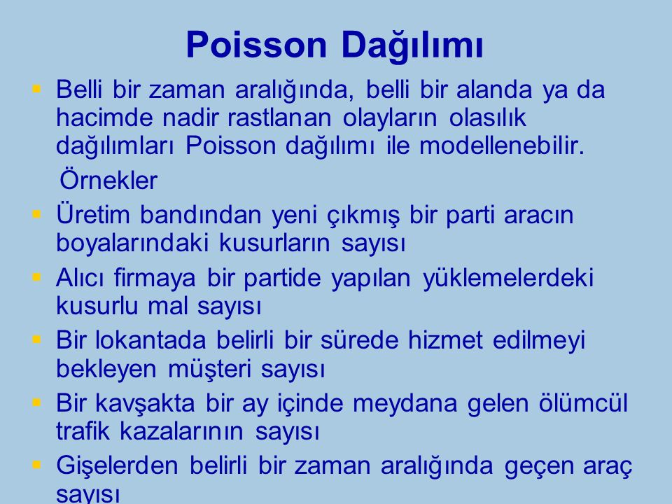 Poisson Dağılımı