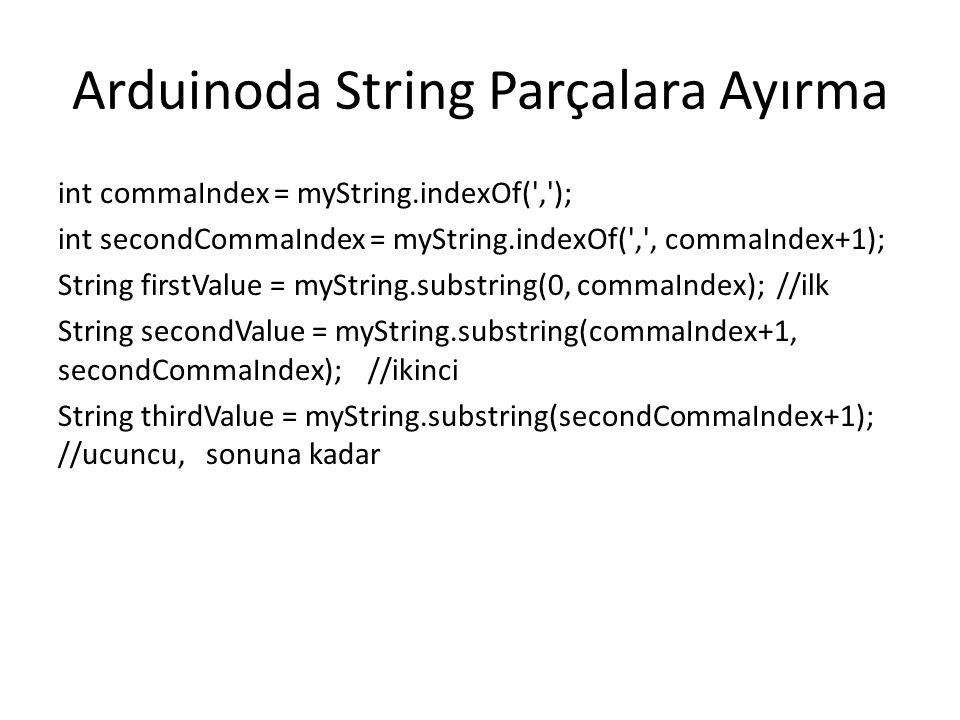 Arduinoda String Parçalara Ayırma