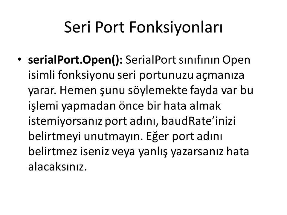 Seri Port Fonksiyonları