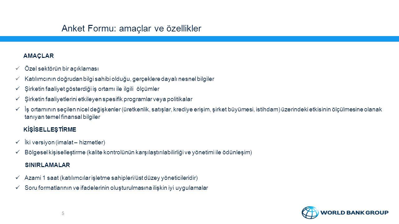 Anket Formu: amaçlar ve özellikler