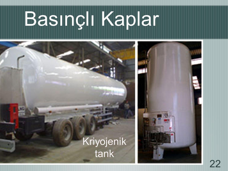 Basınçlı Kaplar Kriyojenik tank