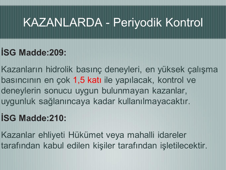 KAZANLARDA - Periyodik Kontrol