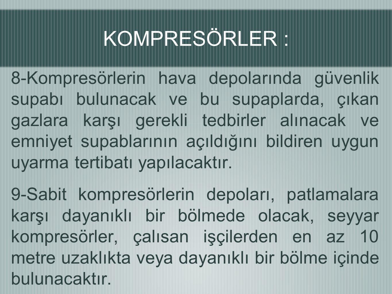 KOMPRESÖRLER :