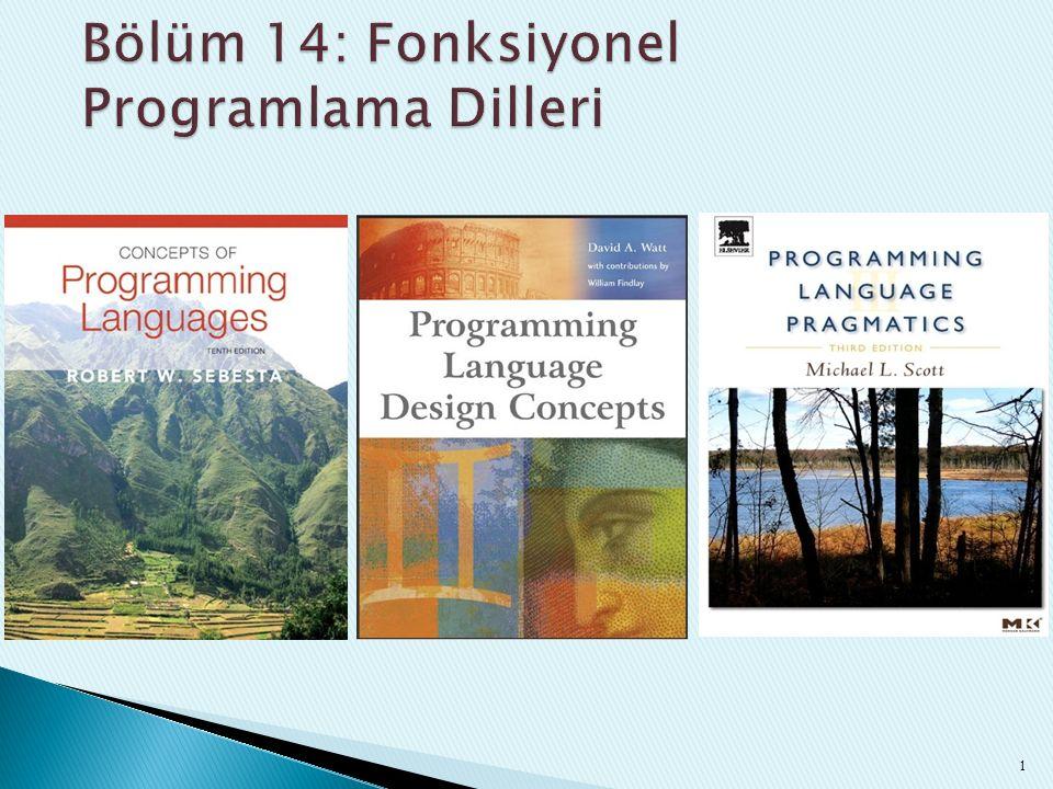 Bölüm 14: Fonksiyonel Programlama Dilleri
