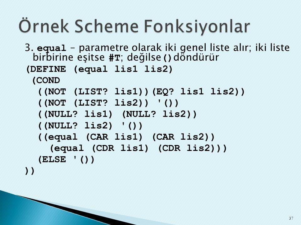 Örnek Scheme Fonksiyonlar