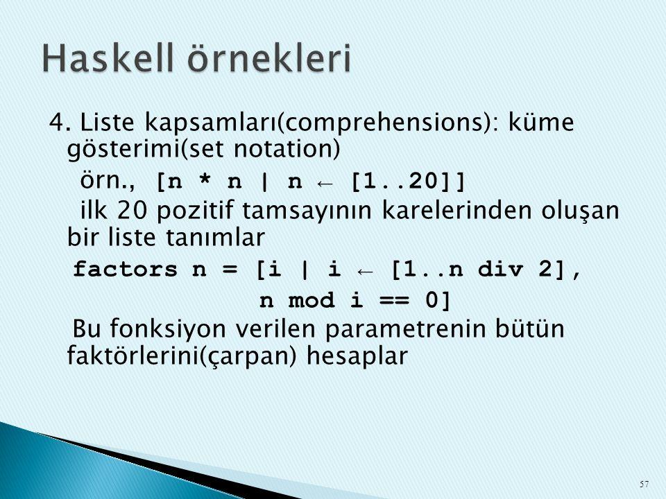 Haskell örnekleri