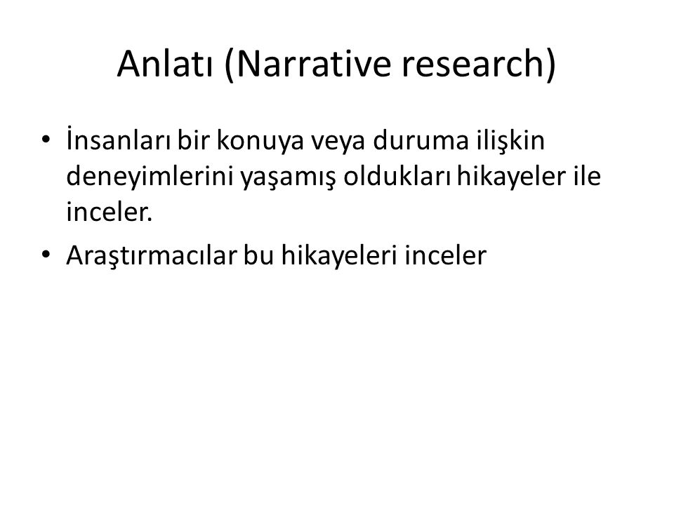 Anlatı (Narrative research)