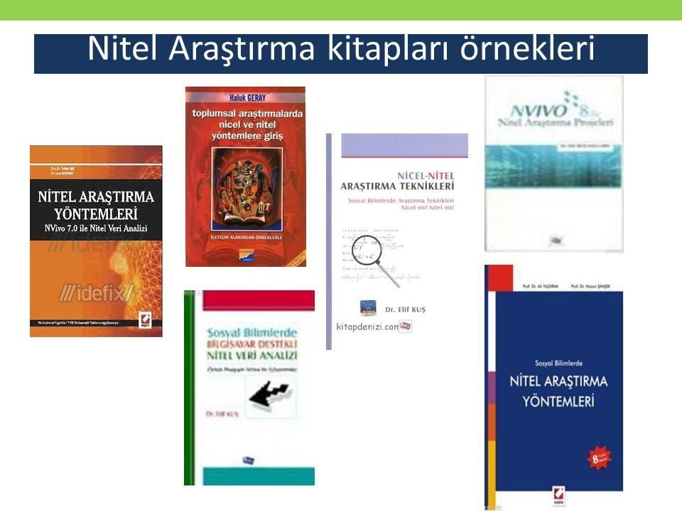 Nitel Araştırma kitapları örnekleri